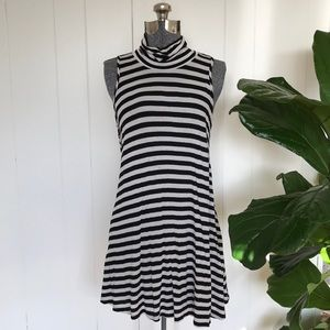 ModCloth Luxe Striped A-line Turtleneck Tunic